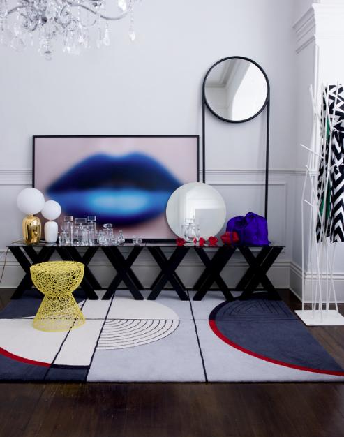 Hallway | Op art | Pop art | Console | Pattern | Shapes ...