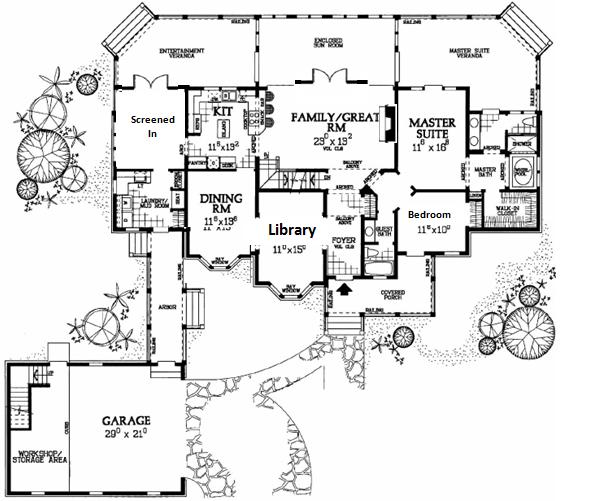 18++ U shaped farmhouse plans type