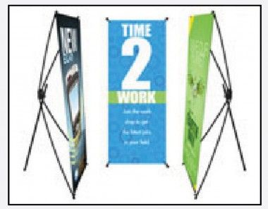 10oz Vinyl Indoor Banner X Style Collapsible Stand Indoor Banner Outdoor Banners Printing Services