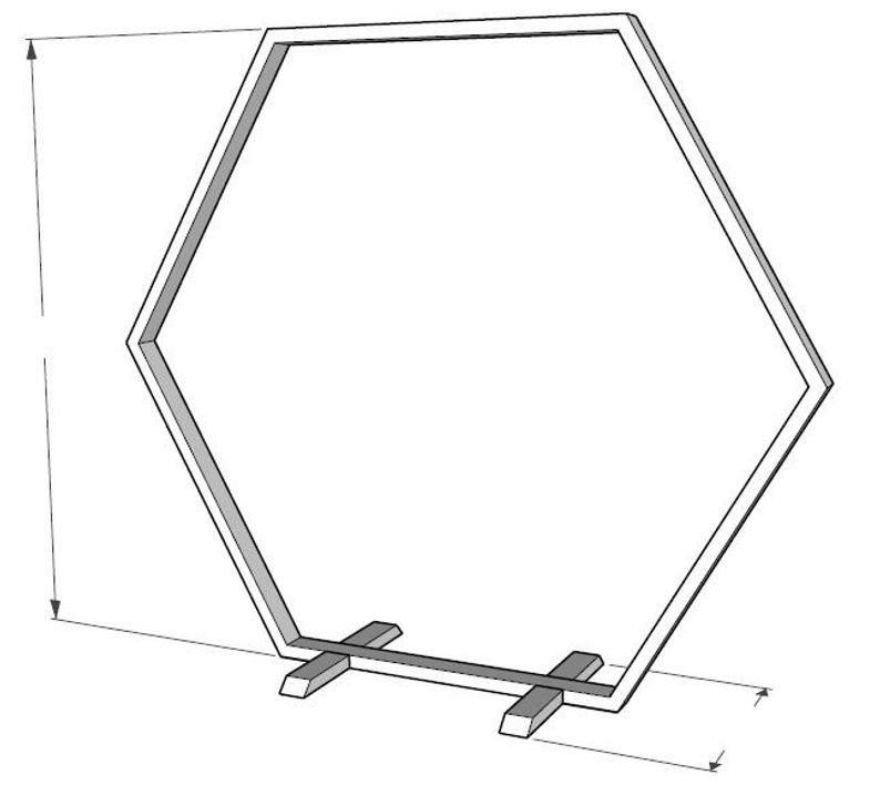 Construction plans for wooden hexagon wedding arch diy