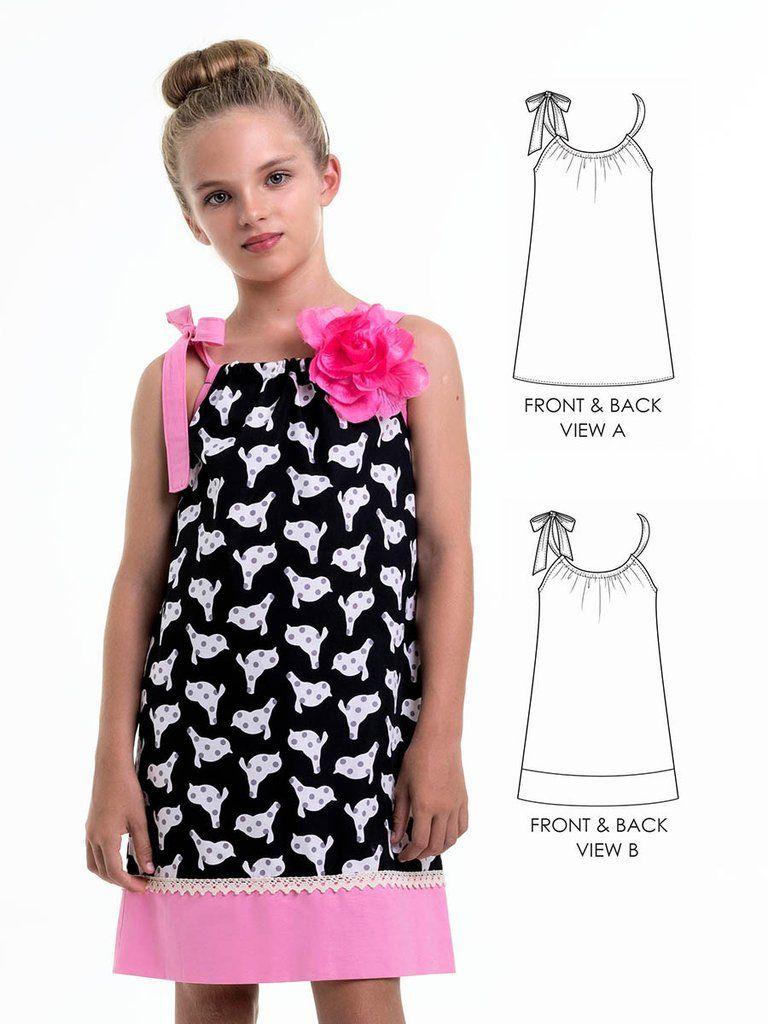 girls pillowcase dress pattern penelope