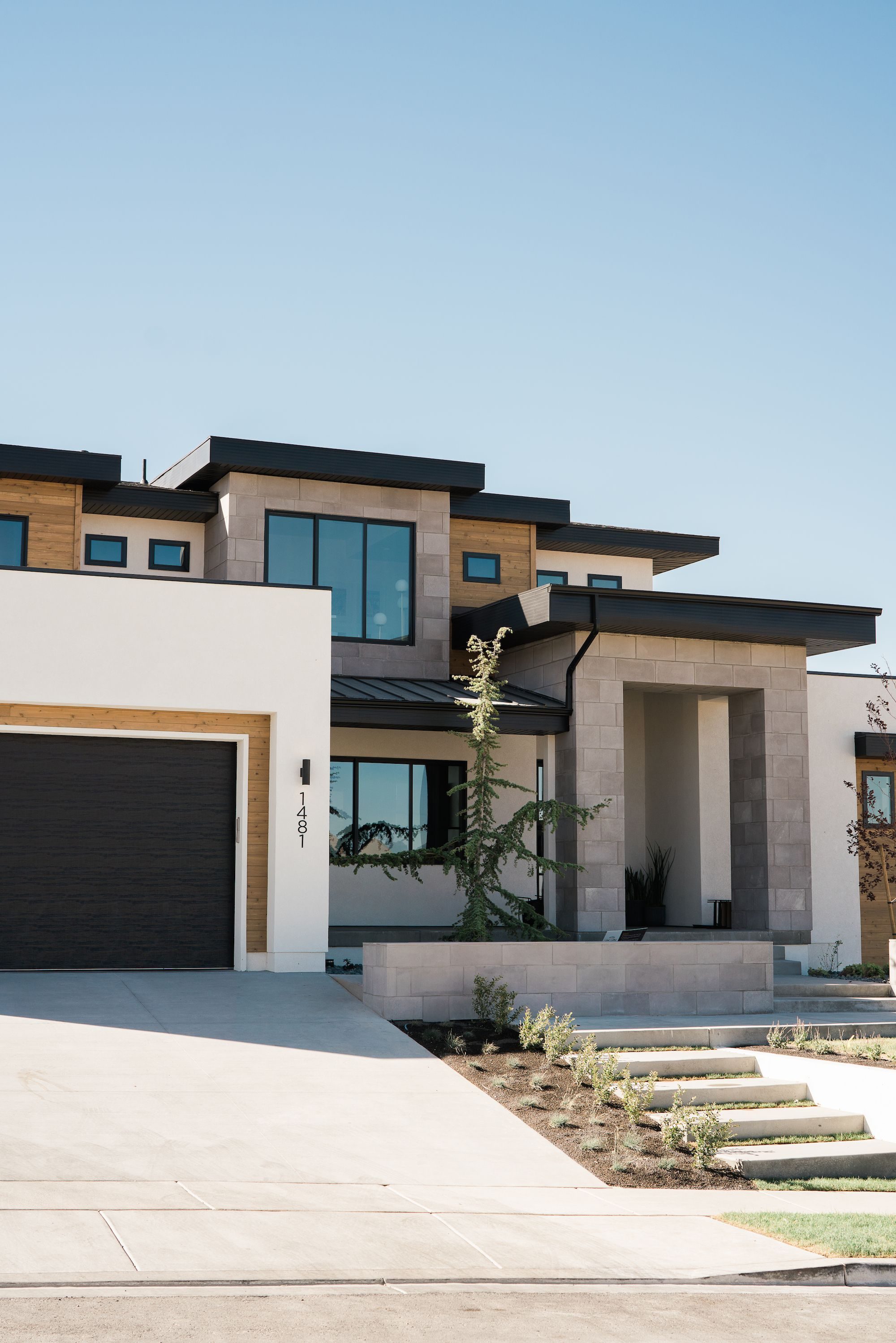 Traverse Mountain Modern Entry Office Living House Of Jade Interiors Blog Contemporary House Exterior Flat Roof Design Contemporary House Design