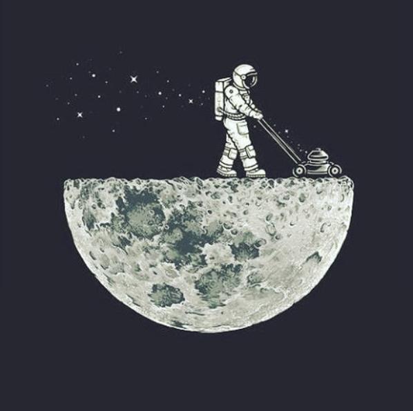 Troisieme Jour De La Lune Art Spatial Les Arts Illustration D Espace