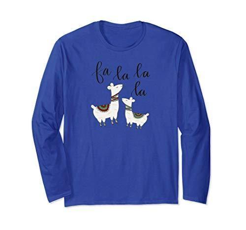 Fa La La La Llama Funny Christmas Carol Long Sleeve T-Shirt