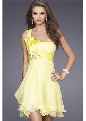 76bdd3c36df short chiffon daffodil homecoming dress under 100