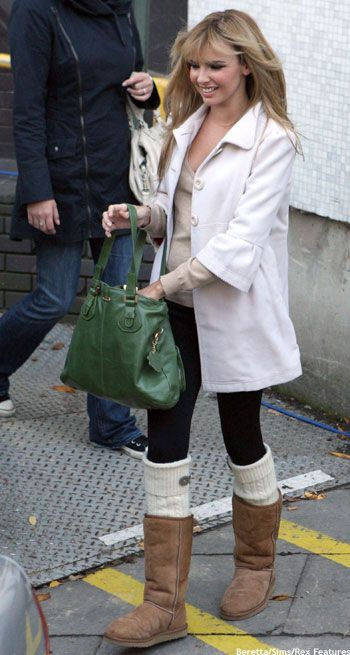 Leggings With Boots Look Justine Kinirons Make Up Knee