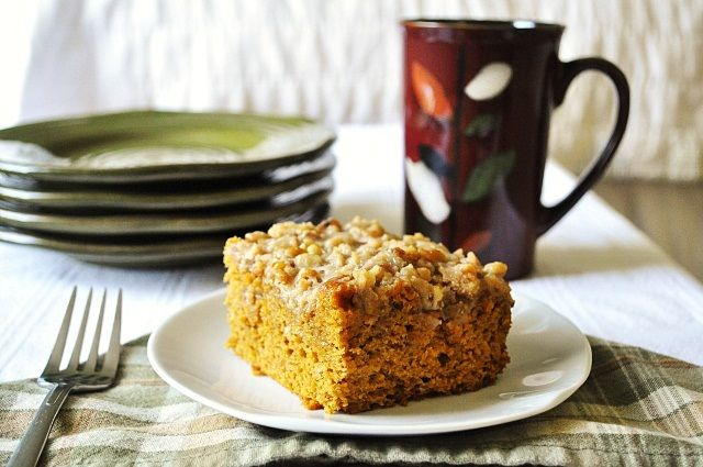 Pumpkin Coffee Cake- made super easy by using yellow cake ...