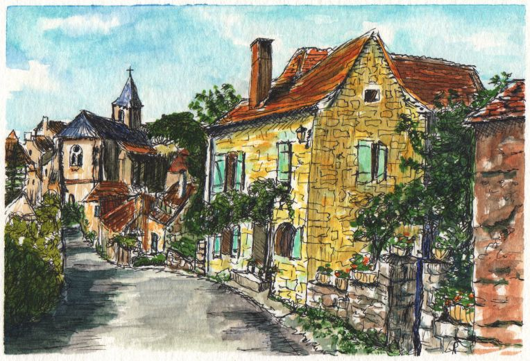 Little French Town By Charlie O Shields Doodlewash Travel
