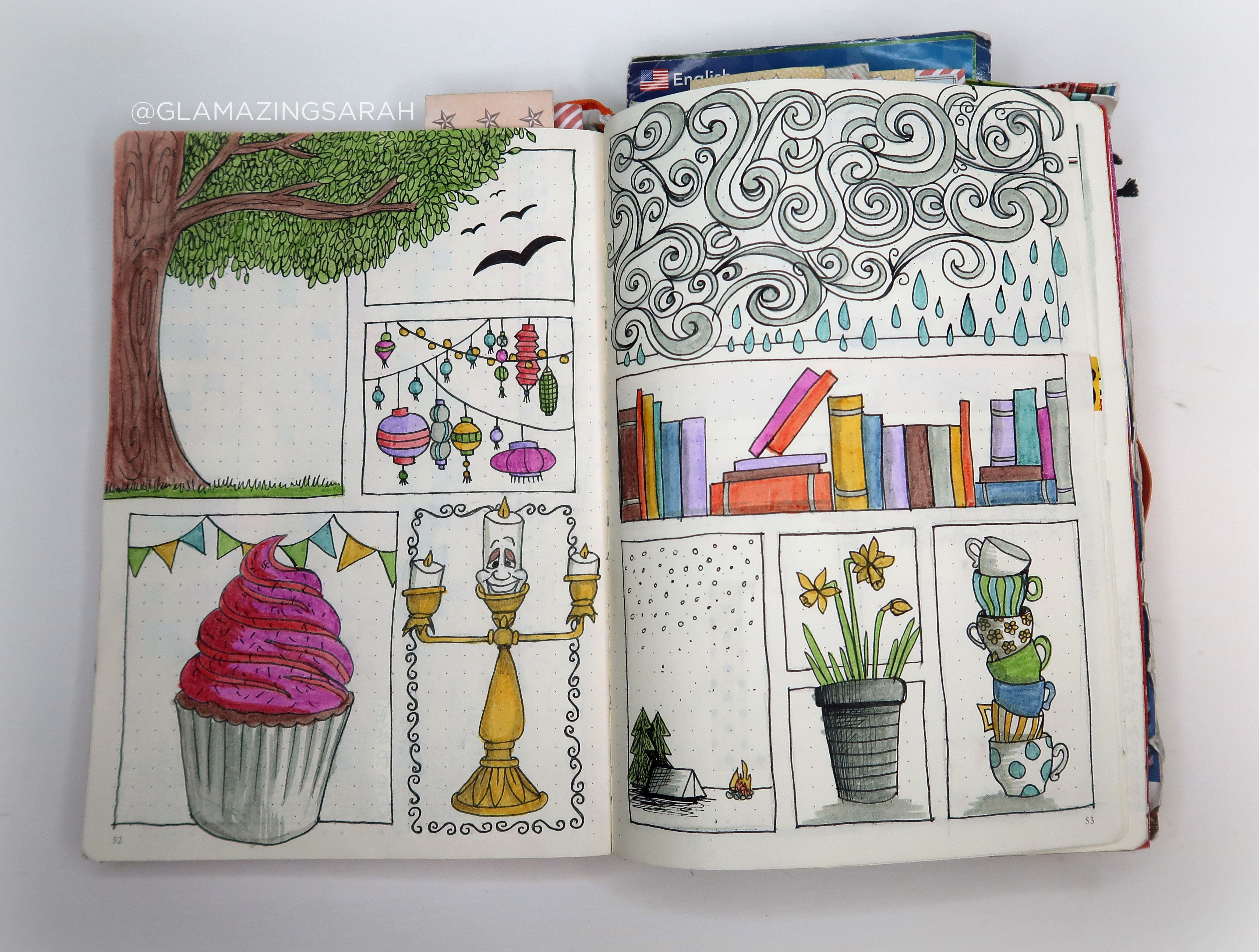 Free Spring Printable For Your Bullet Journal Gwennan Rees Bullet Journal Printables Bullet Journal Doodles Journal Doodles