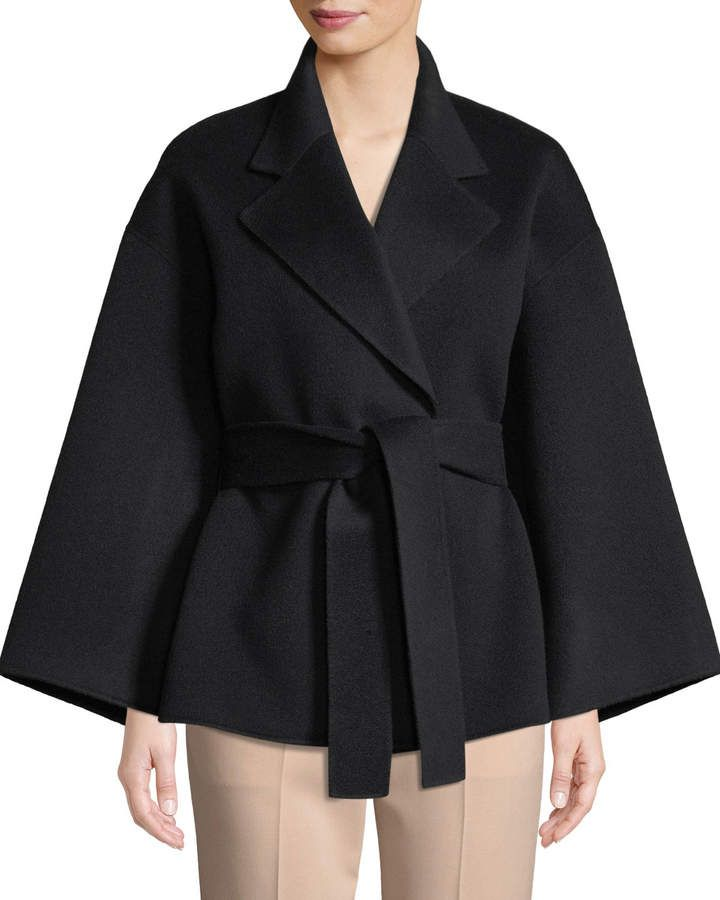 06e36cd240 Theory Notched-Collar Belted New Divide Wool-Cashmere Robe Jacket