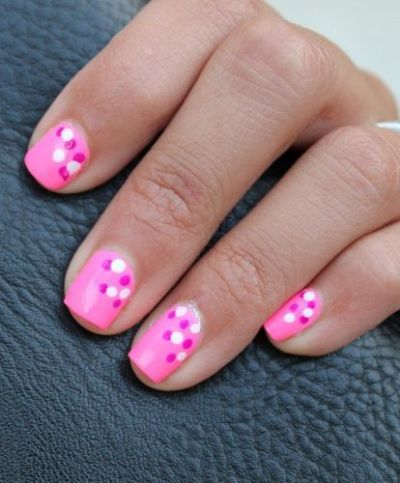different simple nail art designs  dot nail designs