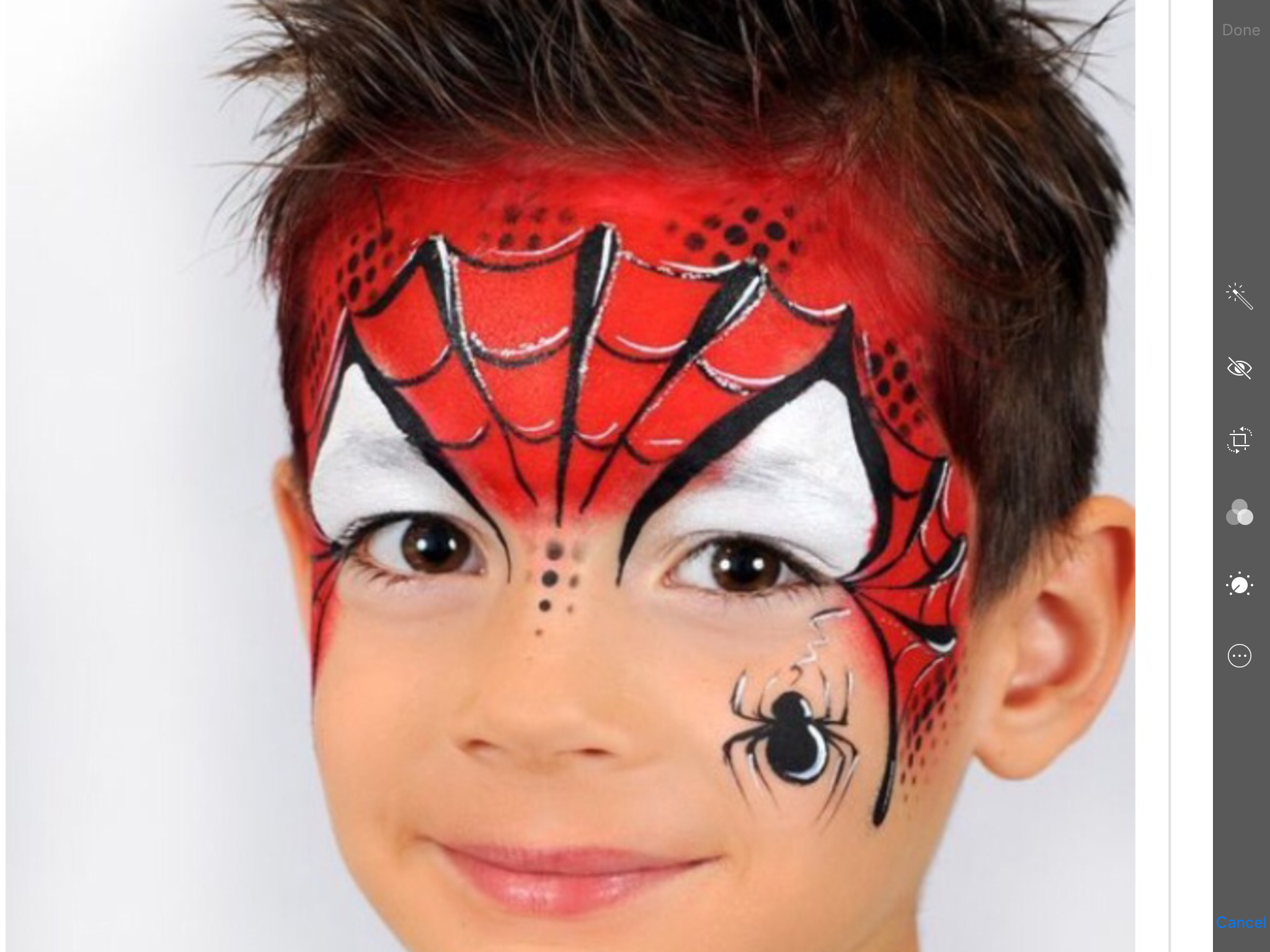 Pin By Angie Bliss Downs On Face Painting Boys Superman Face Painting Face Painting Spider Man Face Paint