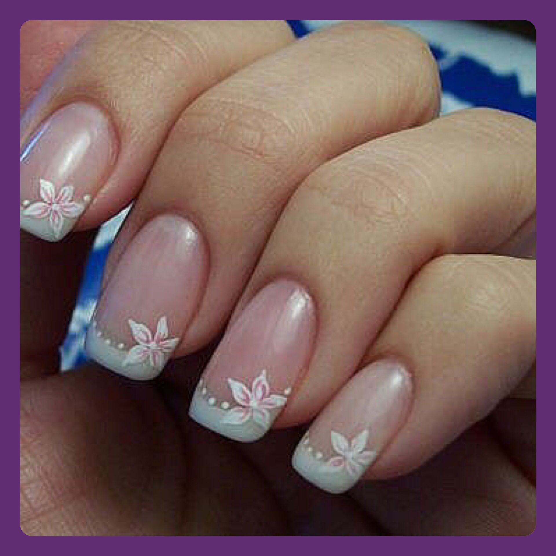 Wedding uas para boda save it pinterest manicure nail the winter blues french nail manicure the intricate science of nail art simple nice nail art designs blue flower nail design from revlon to prinsesfo Gallery