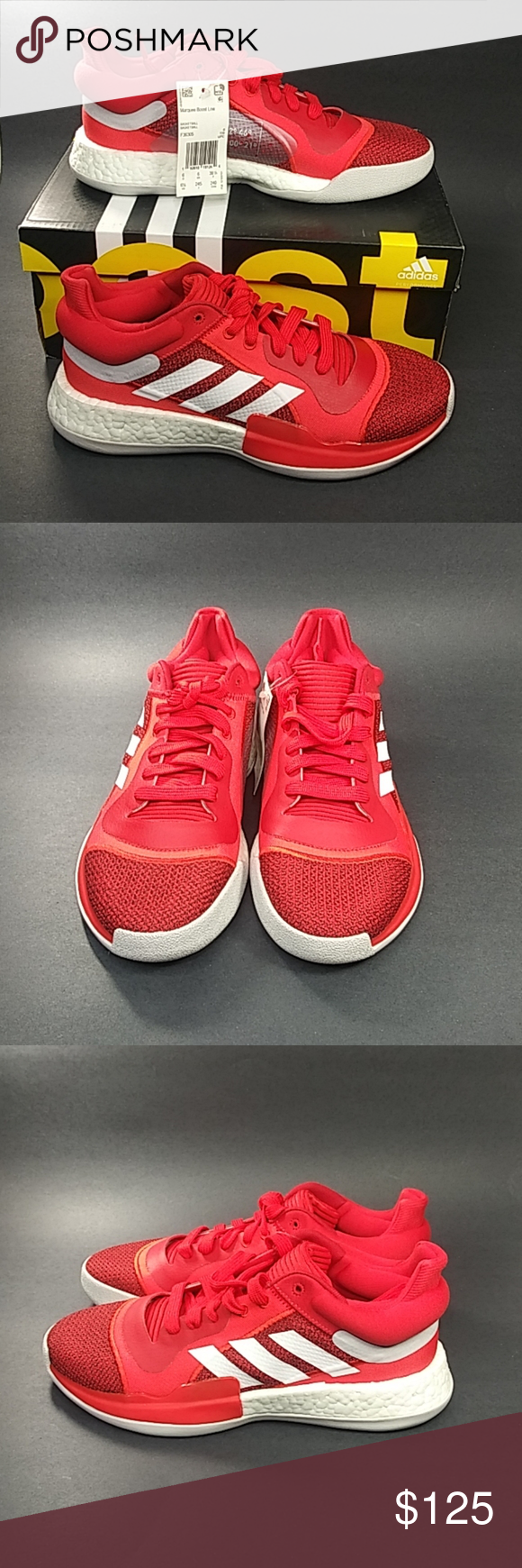 NEW Adidas Marquee Boost Low Active Red