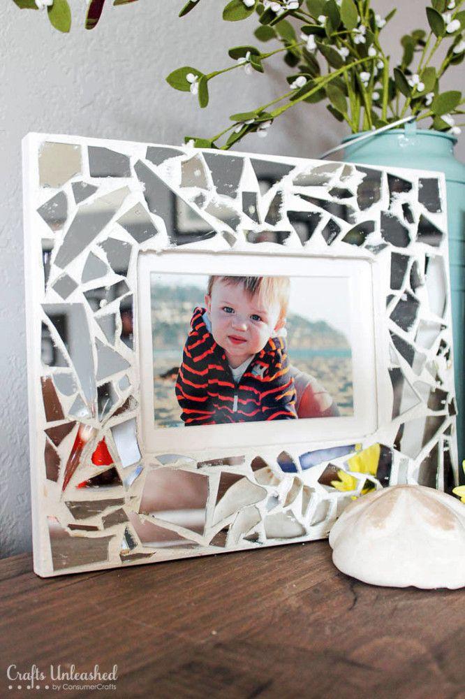 Diy Mosaic Mirror Picture Frames Tutorial Diy Pinterest Mosaic