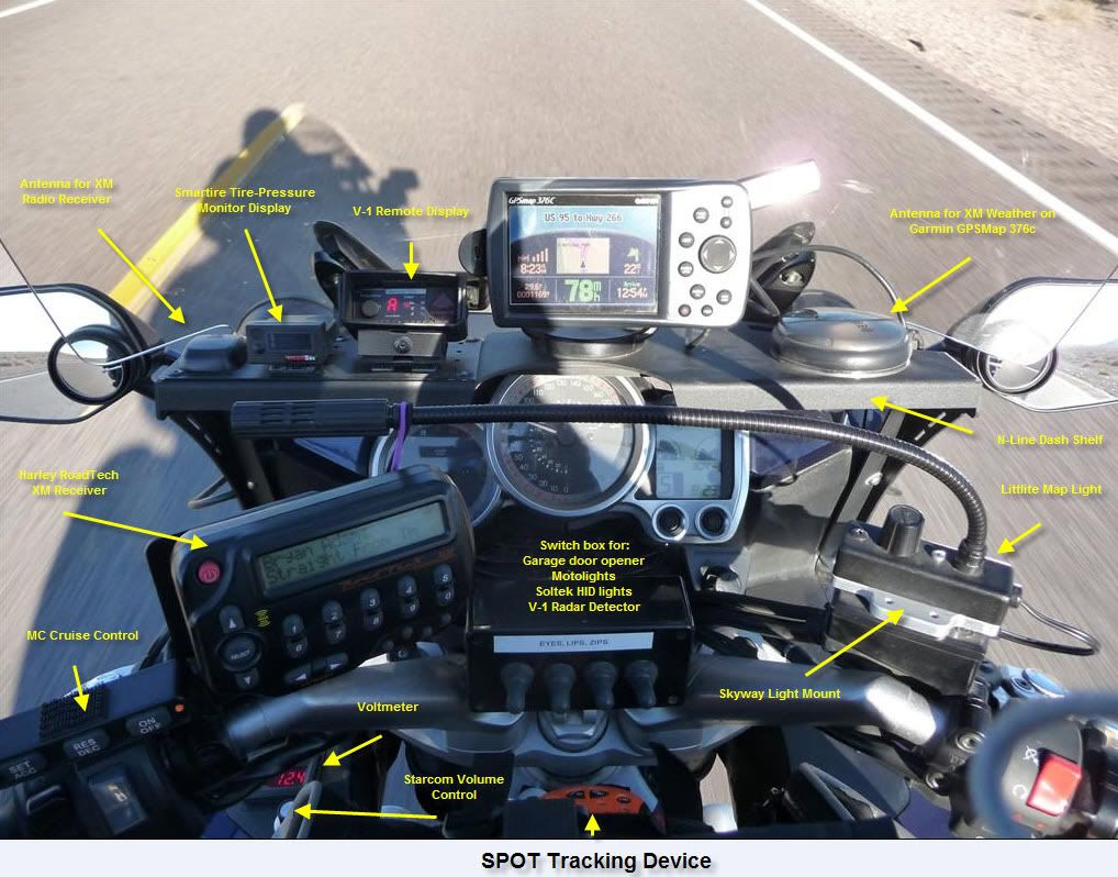Long Distance Motorcycle Cockpit