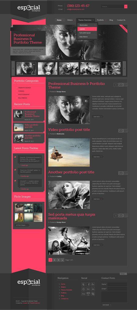 Especial Business and Portfolio WordPress