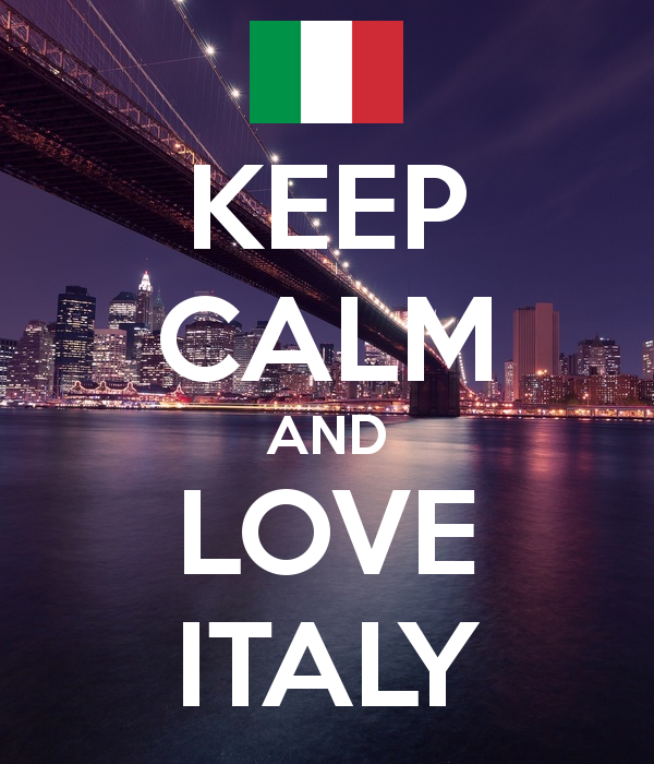 KEEP CALM AND LOVE ITALY