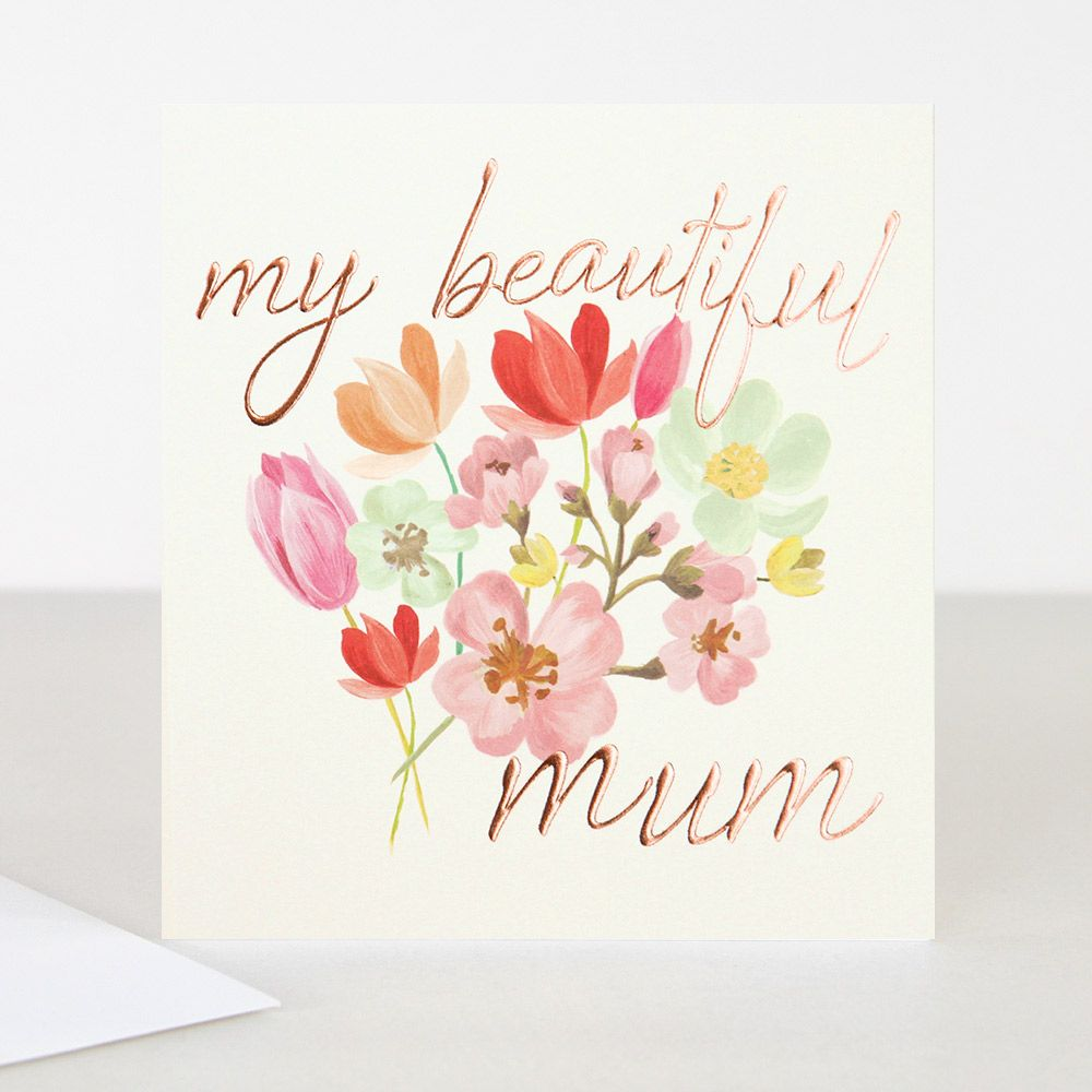 A beautiful bunch of flowers features on the front of this a beautiful bunch of flowers features on the front of this mothers day card with the kristyandbryce Choice Image