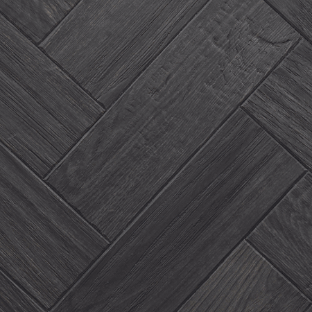 Karndean Art Select Wood Plank Black Oak Parquet 9 X 3 Vinyl Black Laminate Flooring Herringbone Wood Floor Black Wood Floors
