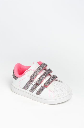 adidas 'Sparkle Superstar 2' Sneaker (Baby, Walker & Toddler