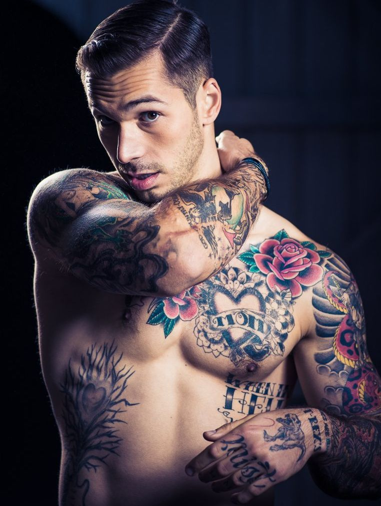 Sexy chest tattoos