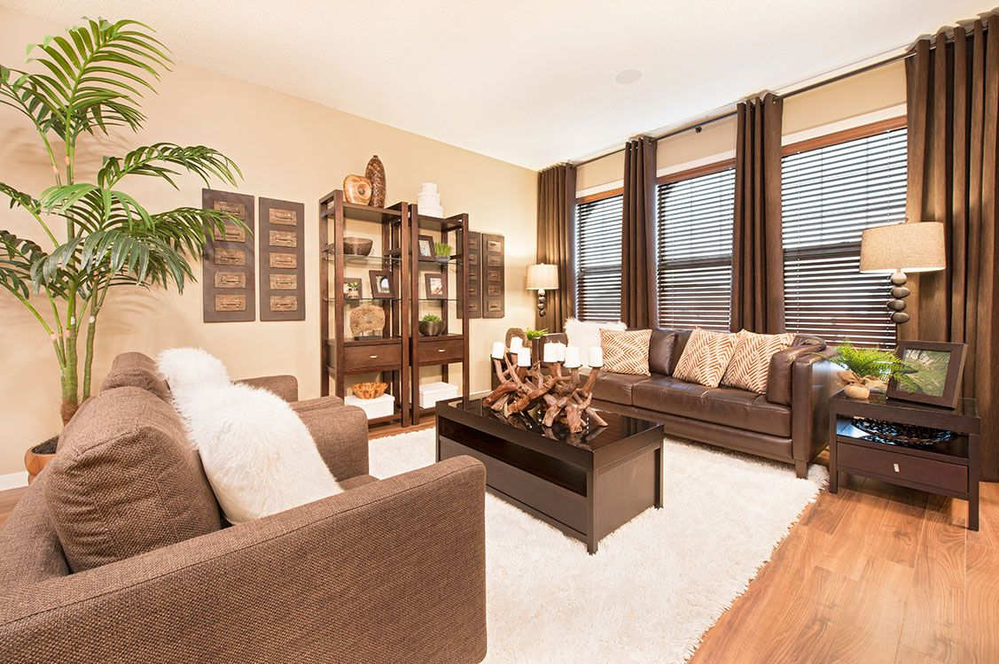 Living Room featuring laminate flooring with shag area rug