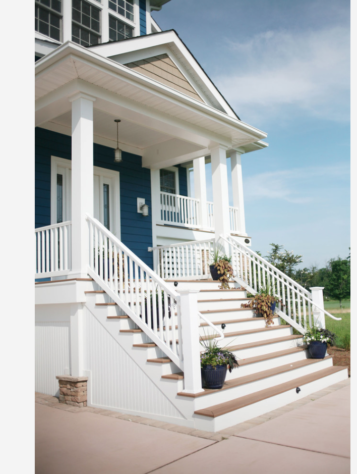The stairs on this Cape Cod mansion that I found on Houzz really ...