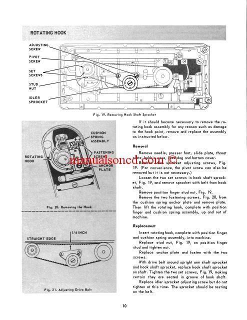 Singer 347348 Sewing Machine Service Manual   Vintage