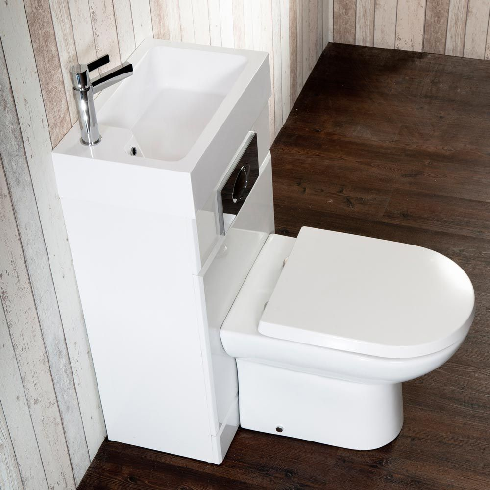 Metro combined two in one wash basin toilet 500mm wide for Small washroom