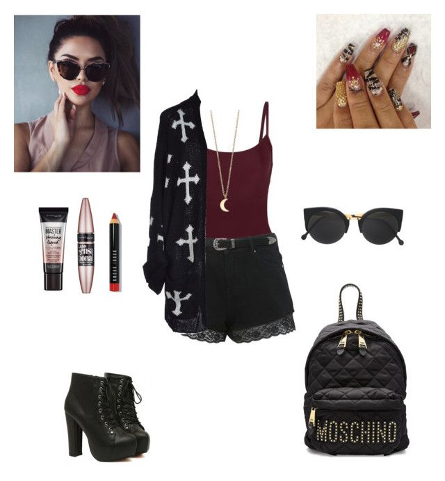 """""""Untitled #568"""" by fashiongirl-8808 ❤ liked on Polyvore featuring Ballet Beautiful, Miss Selfridge, Wildfox, RetroSuperFuture, Moschino, Bobbi Brown Cosmetics, Maybelline and Minor Obsessions"""