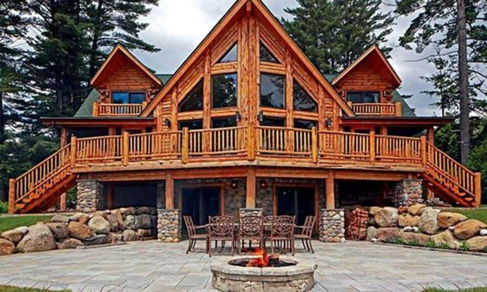Cabins Are The Perfect Peaceful Little Getaway But They Re Even Better If They Have Huge Window Walls It Brings Log Home Living Log Homes Rustic Home Design
