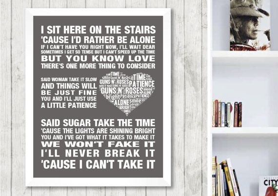 Guns N Roses Patience Music Love Song Lyrics Word By A1heartnhome