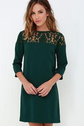 00a03638f4981 BB Dakota Keagan Dark Green Lace Dress | Clothing and Style | Green ...