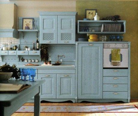 Blue teal cucina carta da zucchero interior design