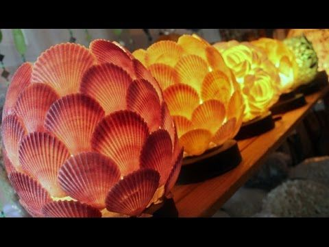 20 Crafts Ideas To Make And Sell 2014 YouTube Diy Shell Lamps