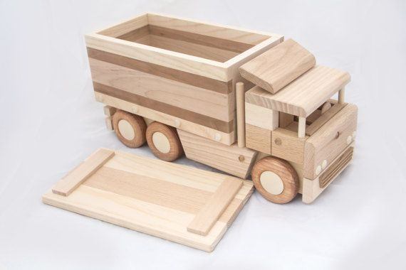 Liefde Walnoot Hout : Wooden box truck auto houten speelgoed speelgoed en hout