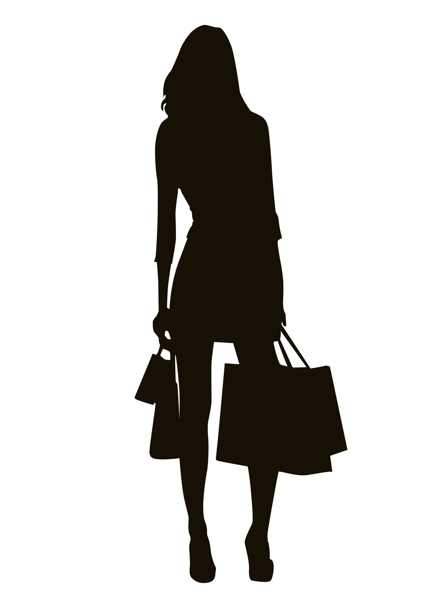 0c368b8e366 shopping girl silhouette | Project 3 | Girl silhouette, Silhouette ...