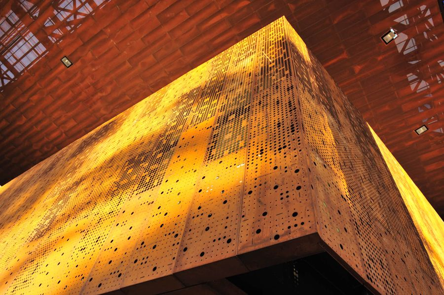 arqa screenpanel en acero corten por hunter douglas