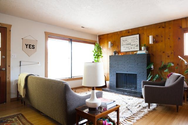 Drop The Paint Brush Wood Paneling Is Officially Cool Again Wood Paneling Decor Wood Paneling Living Room Cabin Living Room