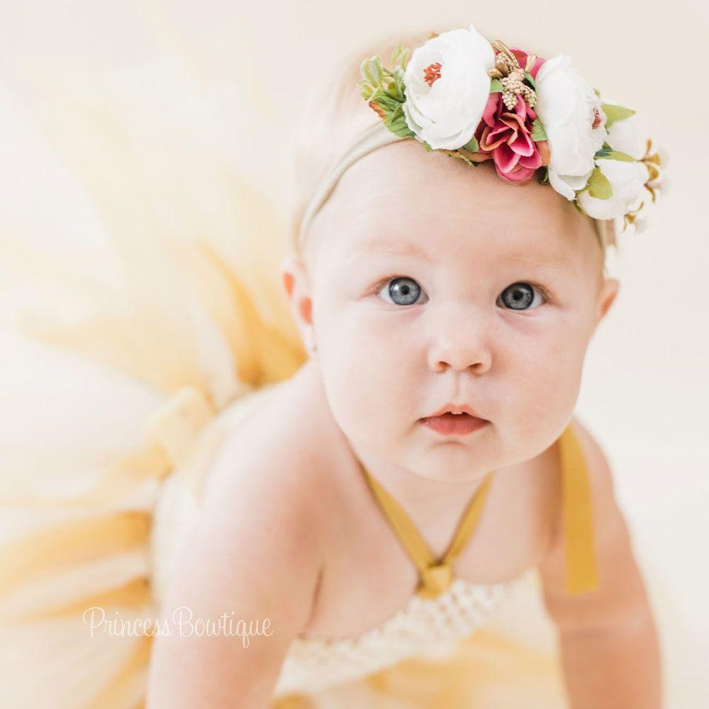 Princess Baby Headband-Infant Headband-Wedding Accessories-Flower Girls-Photo Prop-Vintage Couture-Baby Headbow-Customizing,Christenin