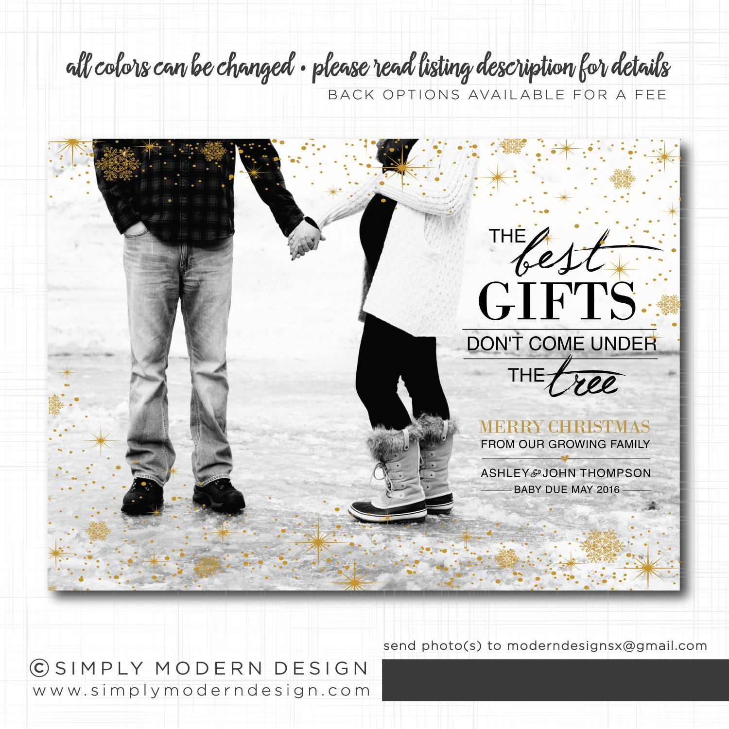 Christmas pregnancy announcement card, Holiday Card, the best gifts ...