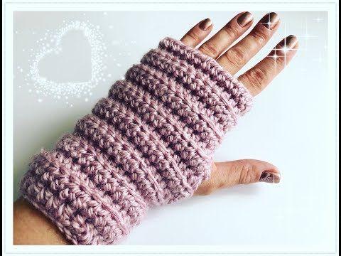 EINFACHE Fingerlose Handschuhe häkeln / Armstulpen häkeln für ...
