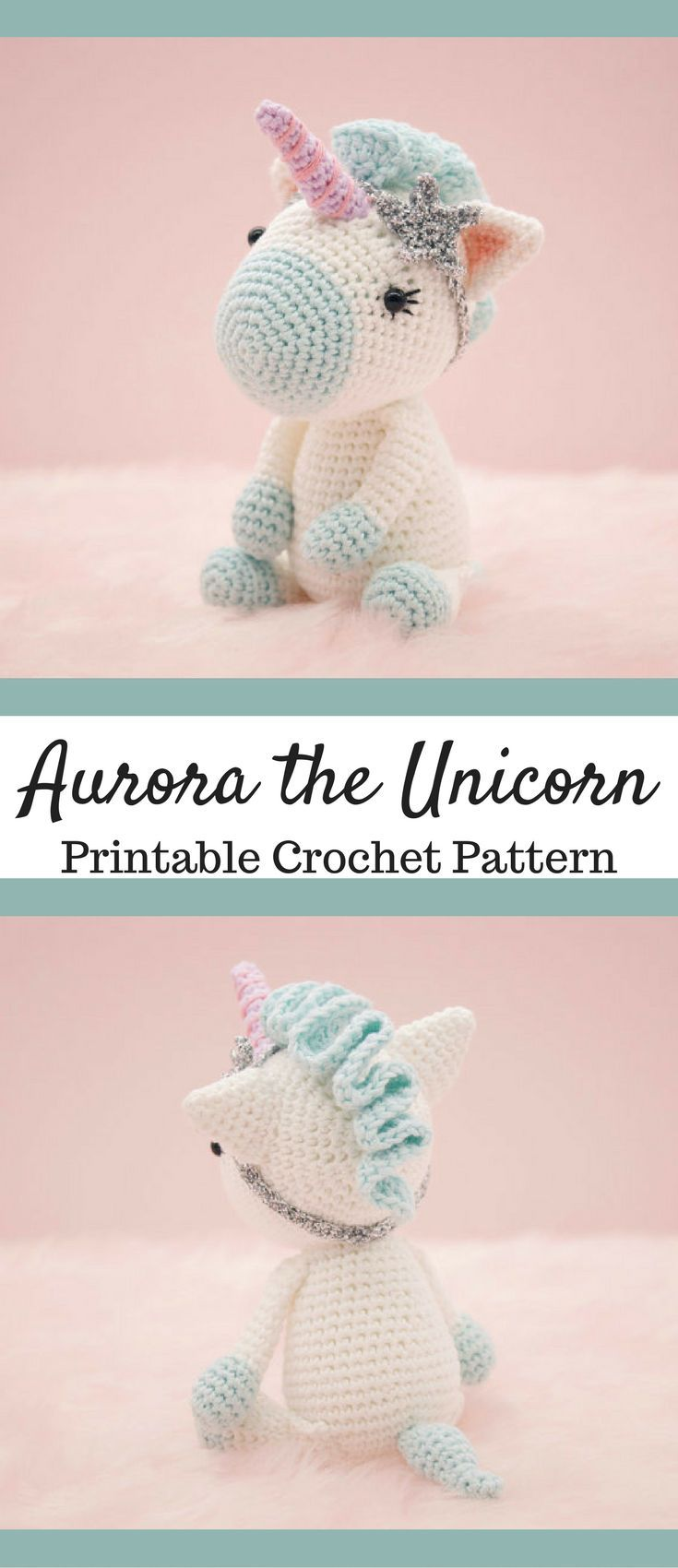 Aurora the Unicorn Amigurumi Crochet Pattern Printable PDF #ad ...