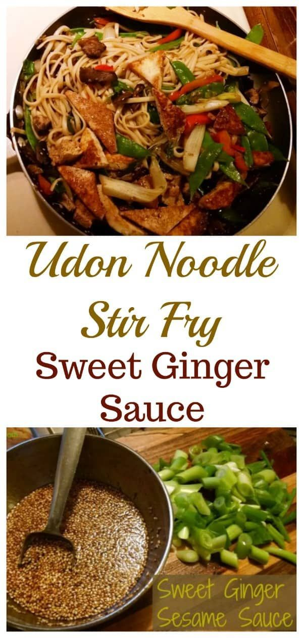 Photo of Udon Noodle Stir Fry | Sweet Ginger Sesame