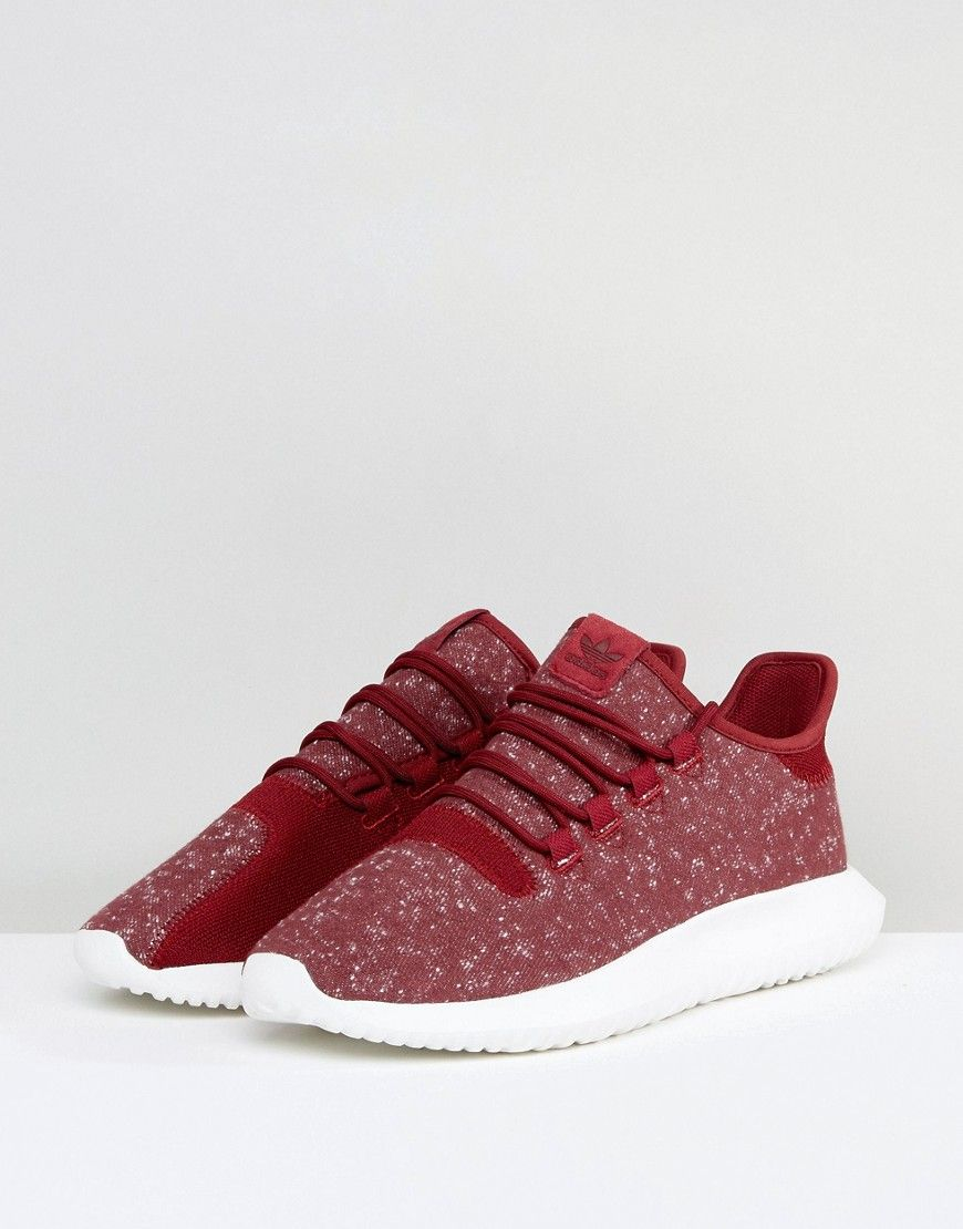 designer fashion f8202 3870d adidas Originals Tubular Shadow Sneakers In Red BY3571 - Red ...