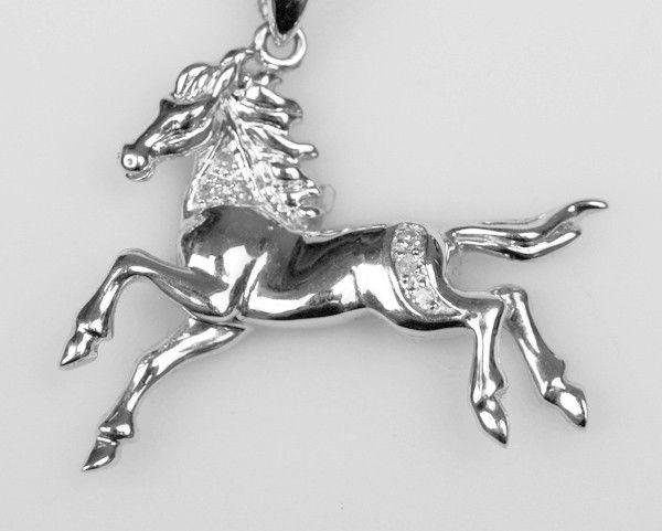 Diamond Horse Pendant