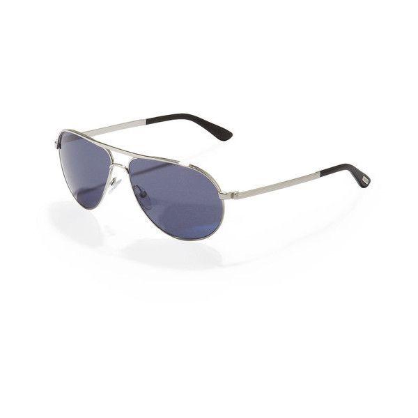 Tom Ford Marko Aviator Sunglasses, Shiny Rhodium found on Polyvore