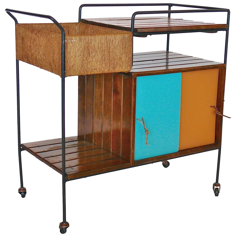 arthur umanoff bar cart see more antique and modern bar carts at https