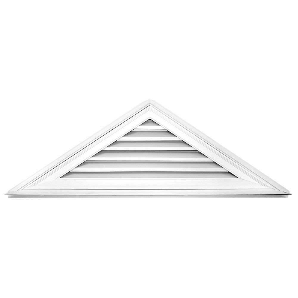 Builders Edge 120140806001 63 X 21 8 12 Pitch Triangle Vent 001 White Continue To The Product At The Image L Gable Vents Builders Edge Gable Roof Design